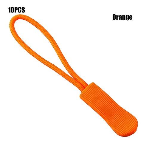10 шт. фиксатор для застежки-молнии, фиксатор для веревочной бирки, сменный зажим, сломанная Пряжка для шитья одежды, дорожные сумки - Цвет: Orange