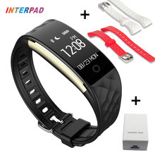 Interpad S2 Smart Wristband Bluetooth Smart Band Bracelet With Heart Rate Passometer For Android iOS PK ID107 D21 Smartband