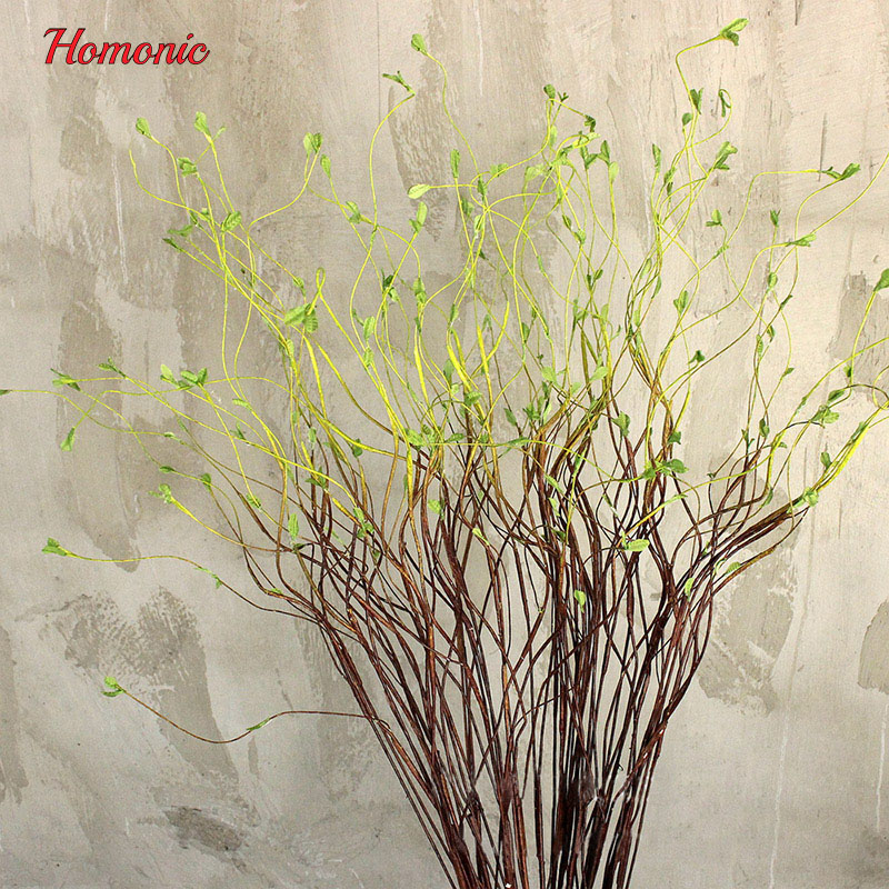 United 90cm Artificial Water Willow Grass Rattan Bouquet Plastic Hanging Plant Garland Decoration For Home Wedding Wall Festival Artificial Decorations
