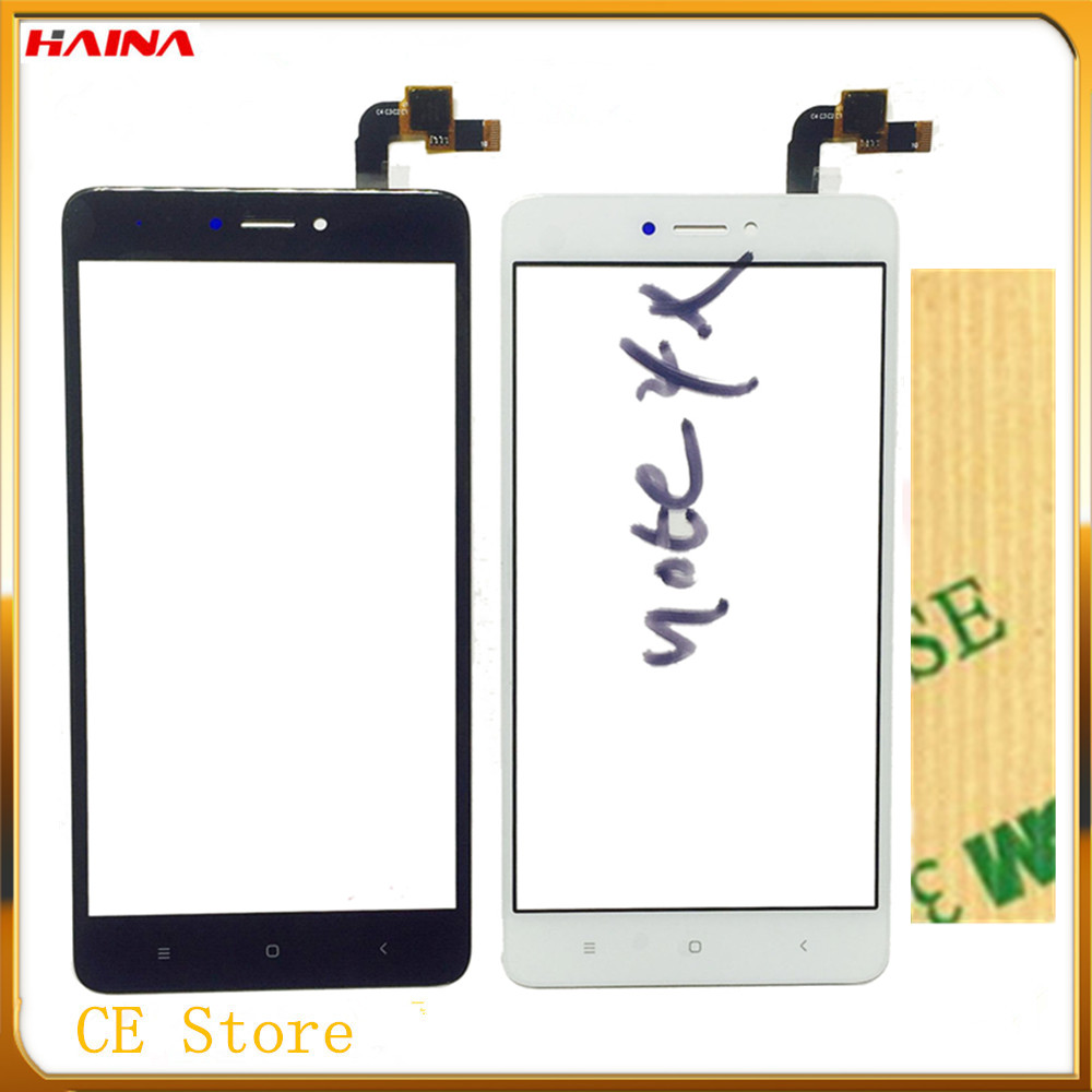 Moblie Phone Touchscreen For Xiaomi Hongmi Redmi Note 4x Touch Screen Digitizer Front Glass Panel Sensor Lens 3m Tape In Mobile Lcds From
