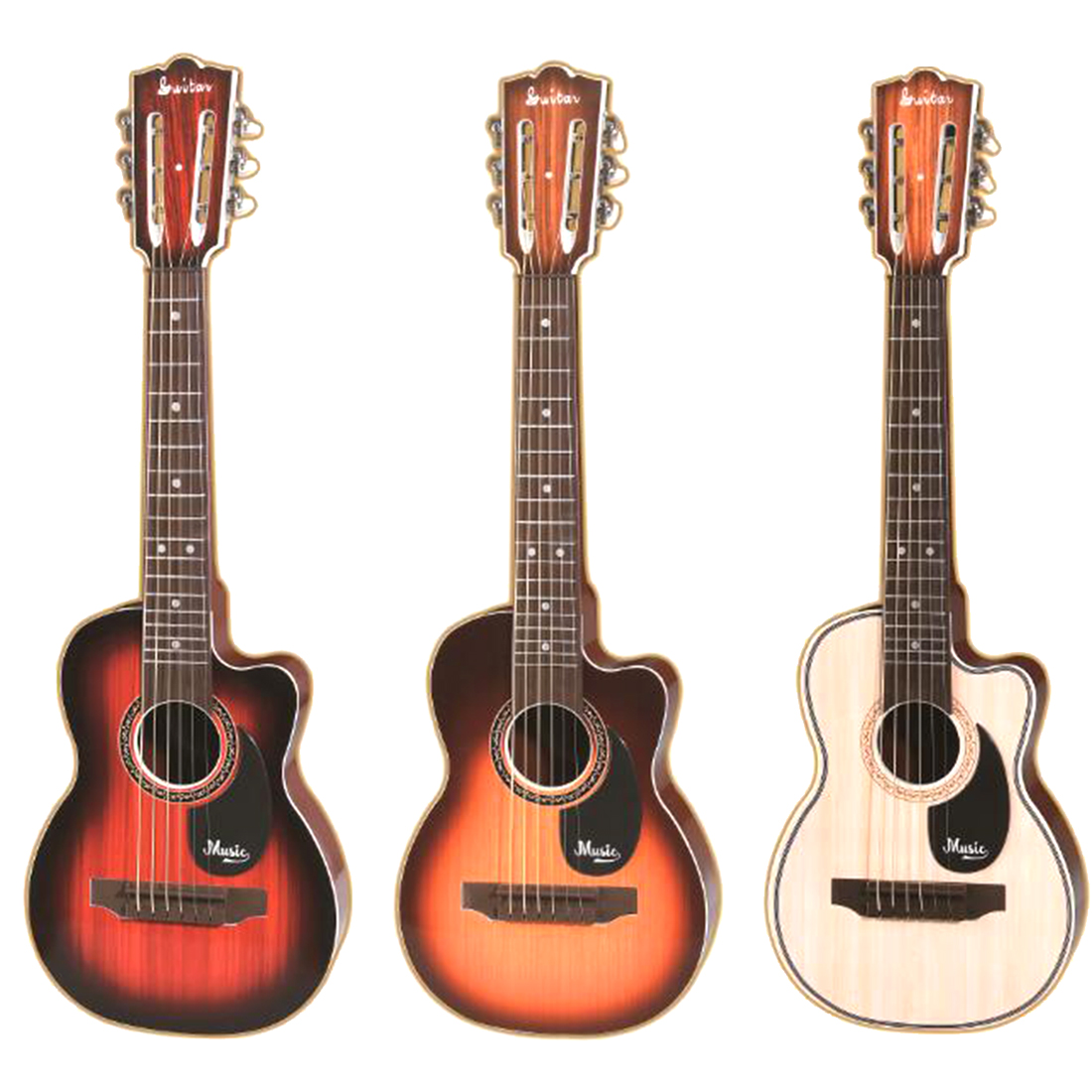 knowneer 6 Strings Children Kids Musical Plastic Guitar Toys Educational Instrument Gift Music Learning Practice