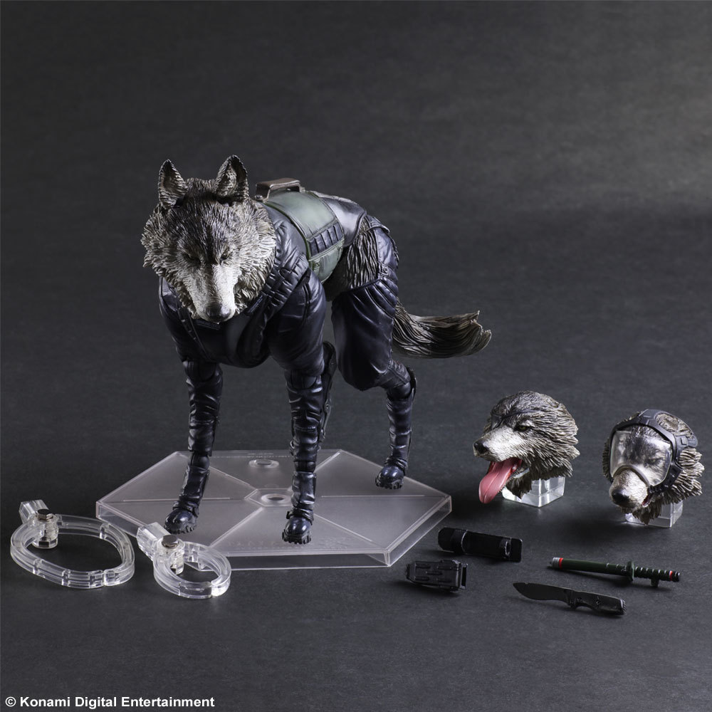 Metal Gear Solid Action Figure Diamond Dogs Play Arts Kai 200mm PVC Anime Movie Collectible Model Toy Metal Gear Solid D-Dog metal gear solid action figure sons of liberty figma 298 soldier pvc toy 16cm anime games figures snake collectible model doll