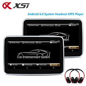 XST 2PCS 10.1 Inch Android 6.0 Car Headrest Mp5 Monitor Touch Screen HD 1080P Video WIFI/HDMI/USB/SD/Bluetooth/FM Transmitter
