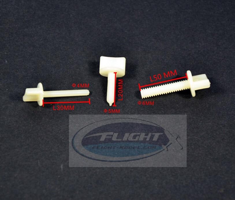 10pcs/lot Nylon Plastic Bolt Hand Thumb Screw M4 M5 M6 For RC Airplane Flight Model