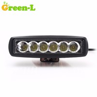 2pcs 18W 6 Inch Led Work Light 12V Mini Led Bar For Car Offroad Boat Tractor