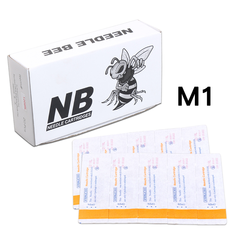 20 pcs Disposable Curved Magnum M1 For Tattoo Rotary Pen Cartridge Needles Sterile Needles Supply stainless steel 15f flat sterile tattoo needles silver 50 pcs