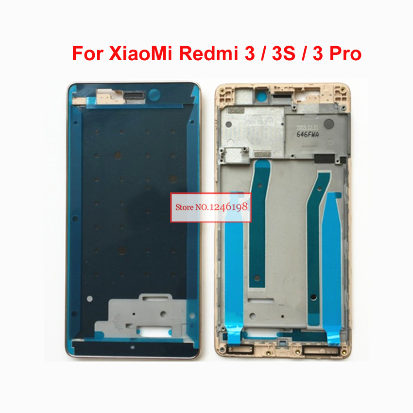 Gold Silver NEW For Xiaomi Redmi 3 / 3s / Redmi 3 Pro Screen LCD Supporting Middle Frame Front Bezel Housing Replacement Parts