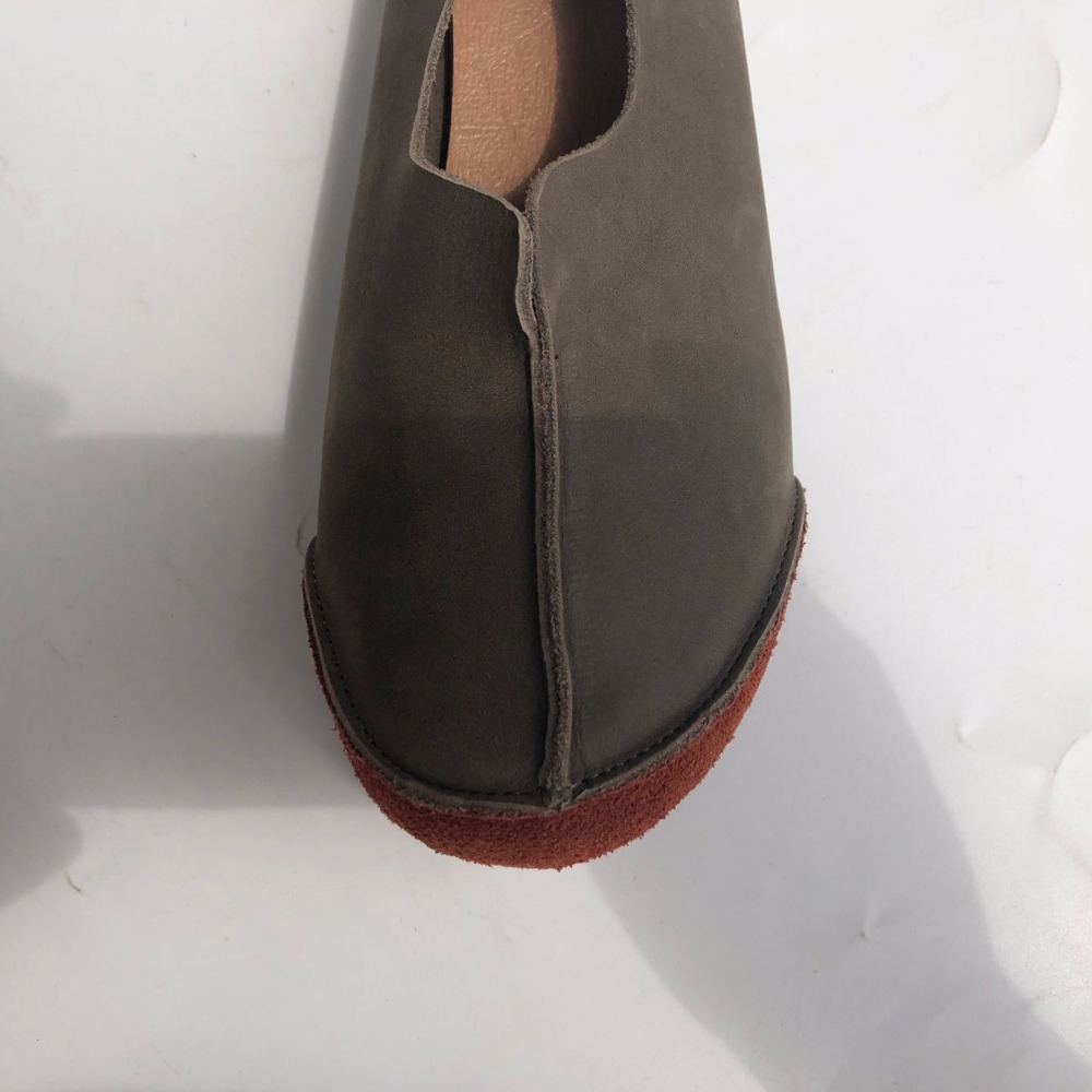 Autumn handmade leather shoes and casual shoes retro shoes Himori female leather shoes brand shoes wholesale