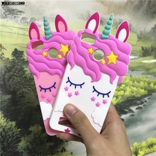 ФОТО 3d cartoon unicorn horse rabbit bunny case for xiaomi 4c redmi 3 pro 3s 3x 4a 4x 5a cases soft silicone back cover for redmi 4x