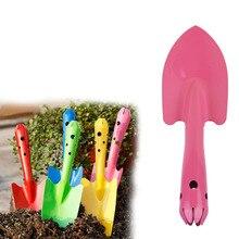 Newest 20cm Mini Pink Iron Small Shovel Garden Spade Hardware Tools Portable Gardening Shovel Handle Metal Head Tools