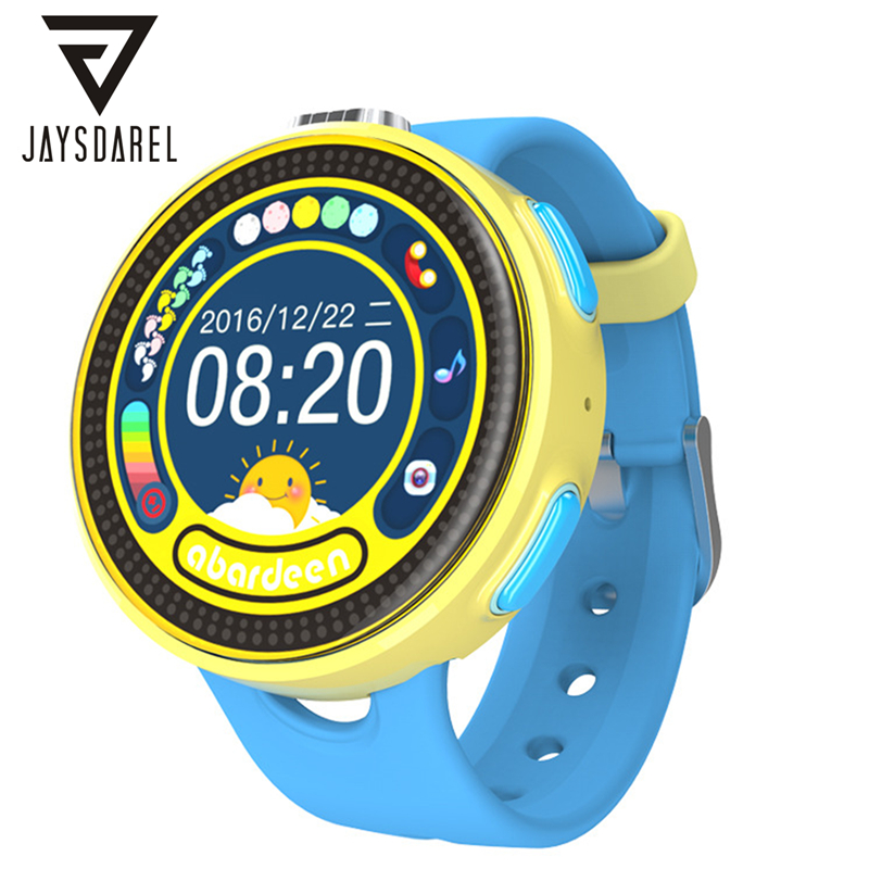 JAYSDAREL Baby Kids GPS Tracker SOS Call Safe Keeper Smart Watch ABARDEEN T1601 Child Anti-lost Remote Monitor Smartwatch Phone