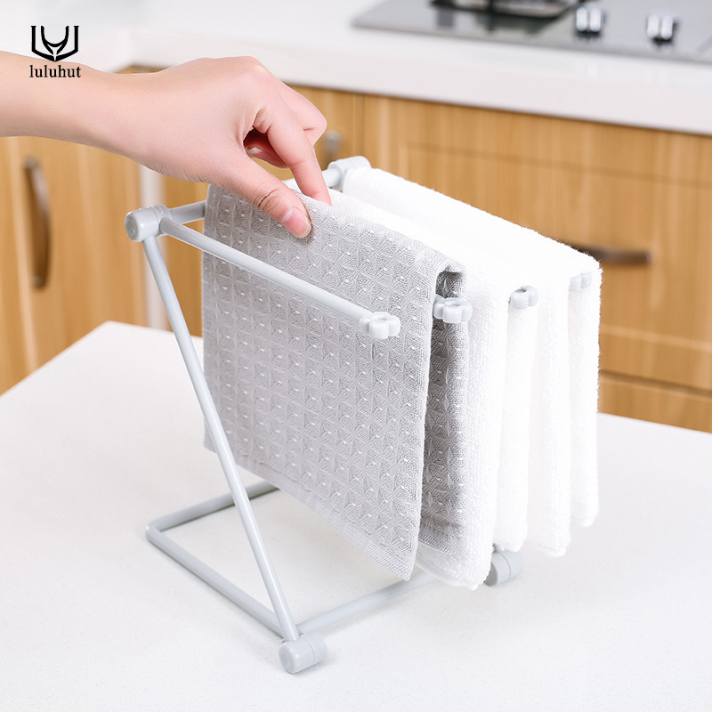Luluhut Napkin Holder Collapsible Vertical Cloth Kitchen Towel Rack Foldable Storage Rack Candy Color Cup Bottle Holder