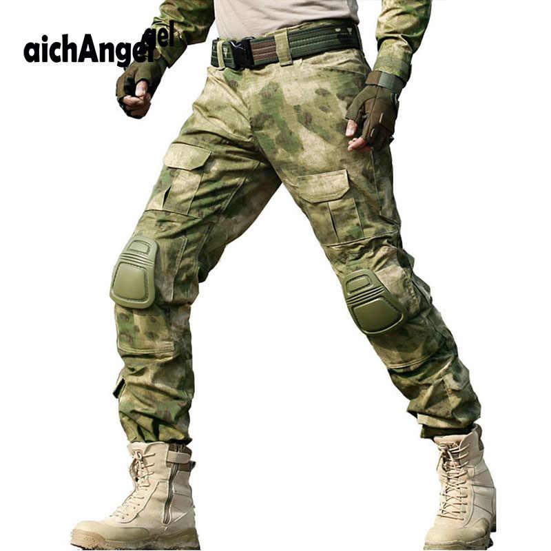 Pantalones Tacticos Militares De Camuflaje Para Hombres Pantalon De Trabajo Swat Combate Cazador Del Ejercito Cs Combat Rodilleras Pantalones Informales Aliexpress
