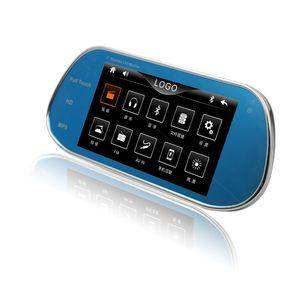 Image 1 - 新型画面リモコン 7 インチバックミラー MP5 ミラーモニター Bluetooth サポート 1080 映画逆転させるためのカメラ