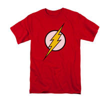 JUSTICE LEAGUE THE FLASH LOGO Licensed Adulto dos homens Camiseta Gráfica SM-5XL(China)