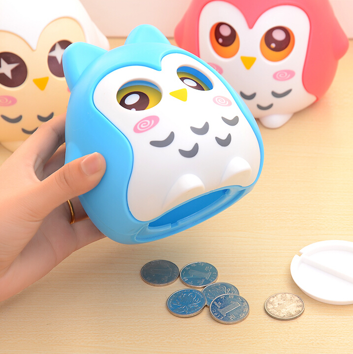 Fashion Novelty the OWL Coin Bank Piggy Bank Money-Box Save Box Coin Saving Box Cute Birthday New Year Christmas Gift Children