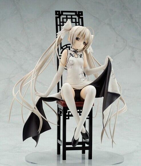 ФОТО Free shipping 1pcs Yosuga no Sora Kasugano Sora on cheongsam base chair pvc figure toy tall 22cm with box hot sell.