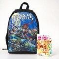 Hot Design Personalizado Sacos Adolescente Mochila Moda Dos Desenhos Animados Crianças Mochila Escolar Crianças Mochila para Meninos Tartaruga Ninja Mutante