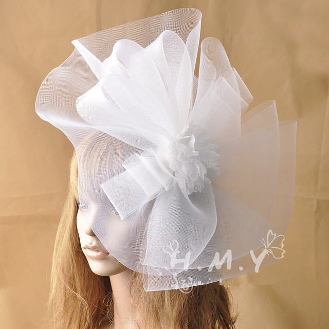 Customized Handmade10colors Wedding Veil Hats With Feather and Flower Decoration Party Gelegenheid hoed bohemian Hats face veils
