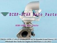 TD03L4-10TK-2.7 TD03 49131-03600 28231-4A750 A2 282314A750 Turbo Turbocharger Para Hyundai Starex grande 2012-D4CB Euro 5 2.5L