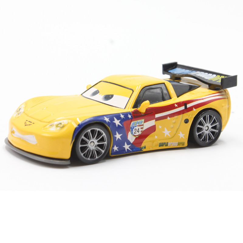 Disney Pixar Car Cartoon Movie Car 1 55 Metal Diecast Jeff Gorvette