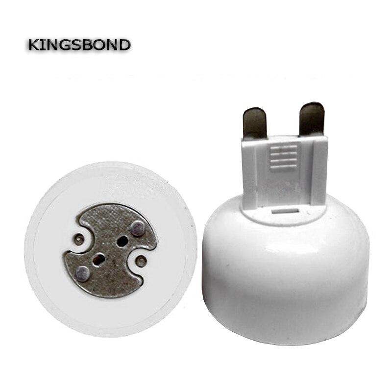 10pcs portable G9 led lamp base converter PC white light bulb adapter holder G9 to MR16,G4,G5.3,GY6.35,G8 led socket