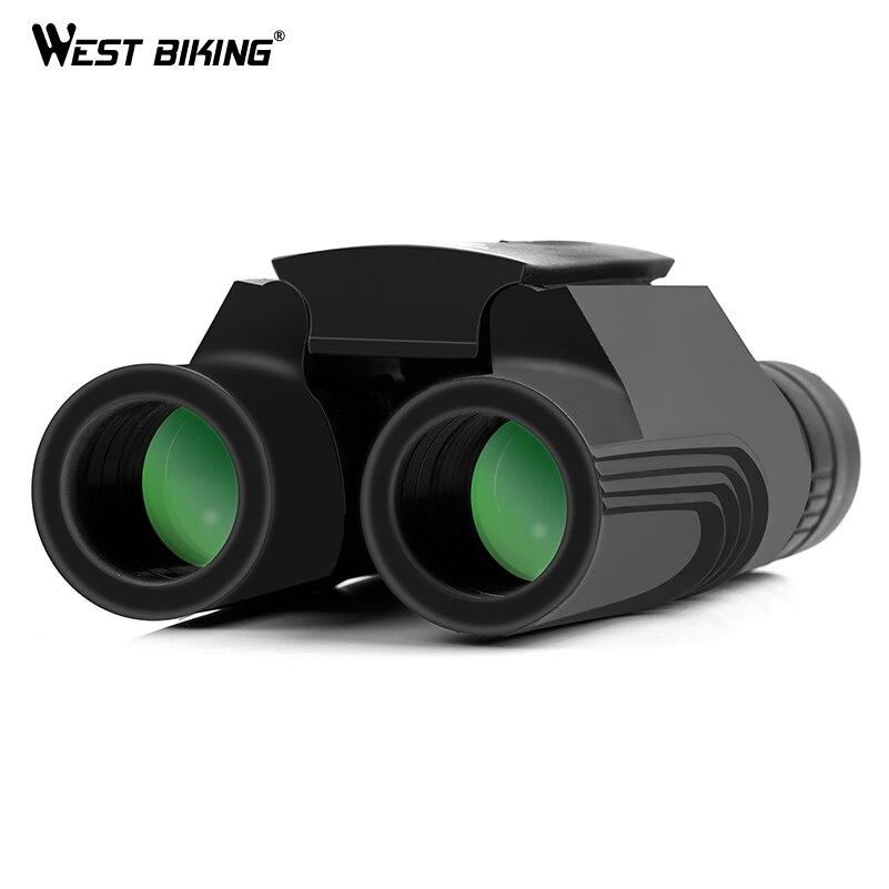 WEST BIKE 10*25 WP BAK4 Prism Binocolo Telescopio Zoom All-ottico Pellicola Verde Binocolo Guidati Da Viaggio All'aperto telescopio