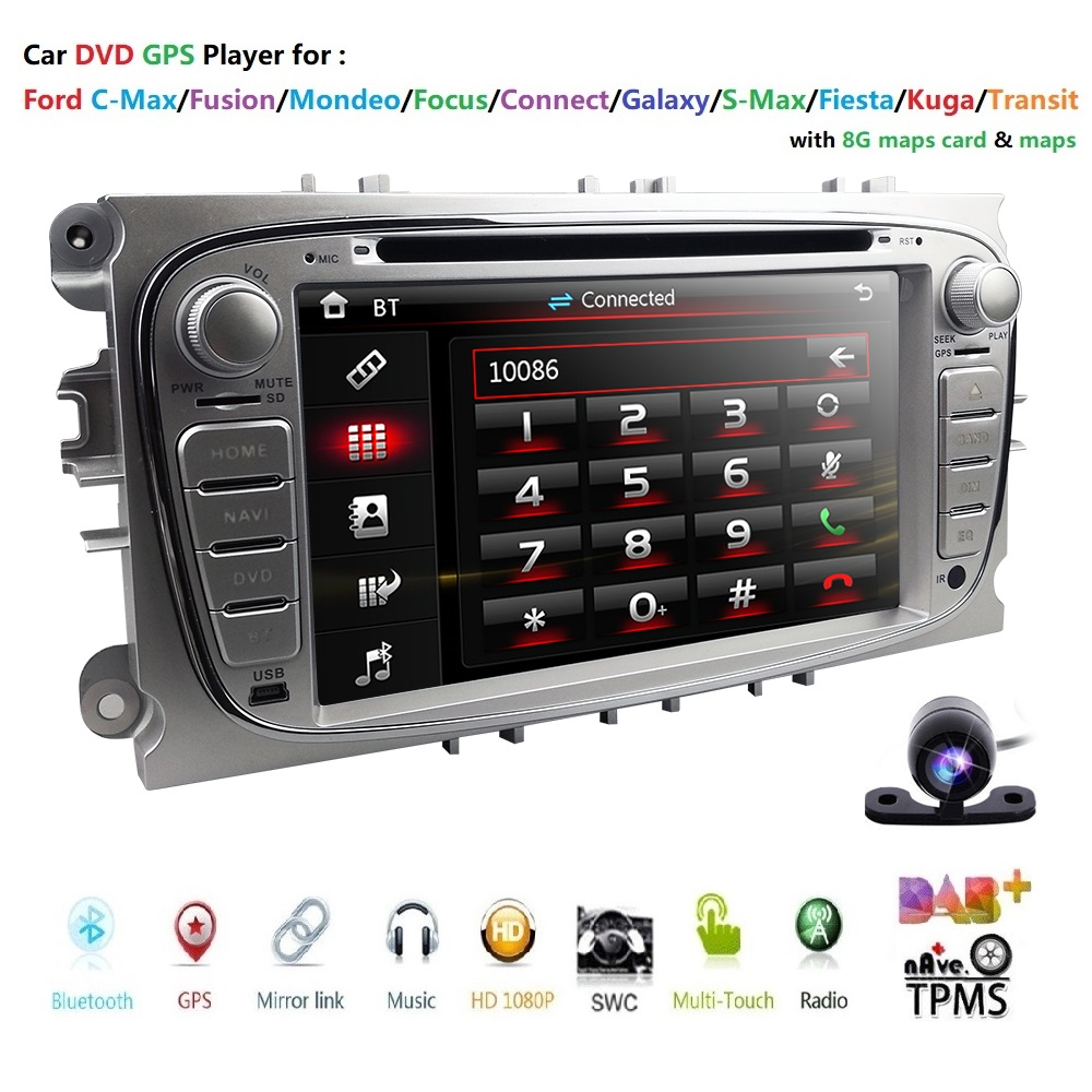 Double 2 Din Car DVD Player GPS Navi for Ford Focus Mondeo Galaxy 3G Audio Radio Stereo Head Unit BT RDS Can-Bus 8G map CAM DAB+Double 2 Din Car DVD Player GPS Navi for Ford Focus Mondeo Galaxy 3G Audio Radio Stereo Head Unit BT RDS Can-Bus 8G map CAM DAB+