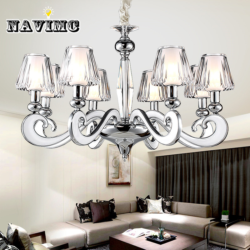 Modern led Chandelier Lighting with Acrylic Lampshade for Living Room Bedroom Dining Room Lamp Ceiling Hanging Lamp noosion modern led ceiling lamp for bedroom room black and white color with crystal plafon techo iluminacion lustre de plafond