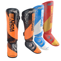 One Pair Youth/Adult MMA Boxing Shin Guards Kickboxing Ankle Support Equipment Karate Size XS S M L