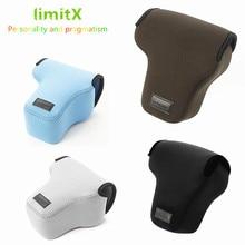 Taşınabilir Yumuşak Su Geçirmez Iç Kamera Kılıf Kapak Çanta Panasonic Lumix DMC G80 DMC G85 G80 G81 G85 12 60mm lens SADECE