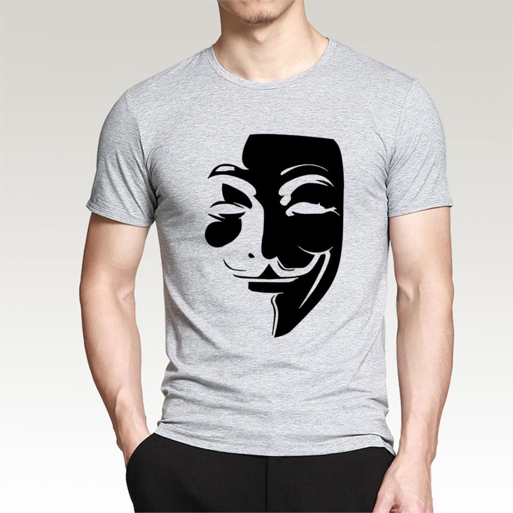 Plus Size S 3XL 2017 Men's Cotton O neck V for Vendetta T ...