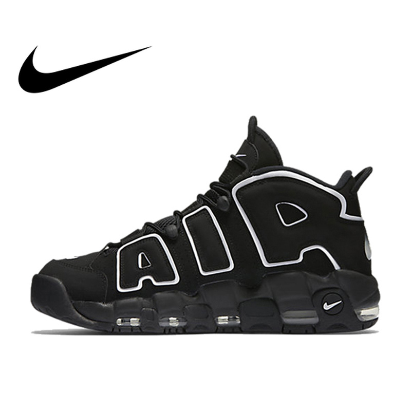 Original Authentic Nike Max Air More Uptempo Men's Breathable Basketball Shoes Sports Sneakers Outdoor Medium Cut Shoes(China)