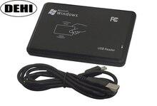 10 ピース/ロット高品質 13.56 mhz RFID IC カードタグリーダー (読み取り専用) USB 2.0