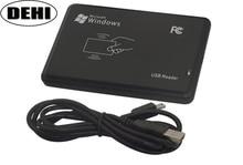 10 개/몫 고품질 13.56 mhz rfid ic 카드 태그 리더 (읽기 전용) usb 2.0