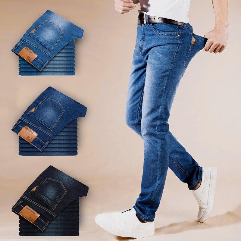 2018 летние Джинсы для женщин Для мужчин новые стрейч хлопок дышащие и удобные Джинсы для женщин модные Повседневное Для мужчин легкие облегающие брюки
