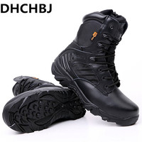 Men's Delta Military Tactical Boots High Quality Waterproof Non Slip Outdoor Travel Shoes Black Sneakers for Men Hiking Shoes