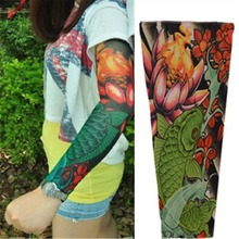 Fake Temporary Tattoo Sleeve Stretch Arm Stocking Biker Party Sexy Gift Slip Nylon Sleeve Body Arm Tatoo For Cool Men Women