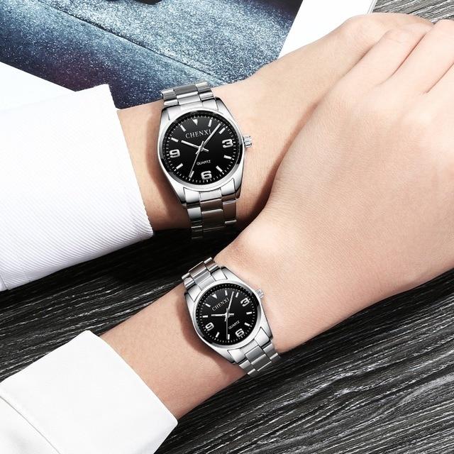 CHENXI Top Brand Luxury Couple Watch Men Women Valentine Gift Clock Couple Watch