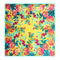 [LESIDA] 90 Square Satin  Women Shawls,Pure Silk Scarf For Women With Flowers Print,Spring And Autumn Ladies Bandana,Cape 9005