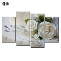 New White Rose Crystal Mosaic Sticker Diamond Painting Square Round 5d Diy Diamond Embroidered Crystal 3D