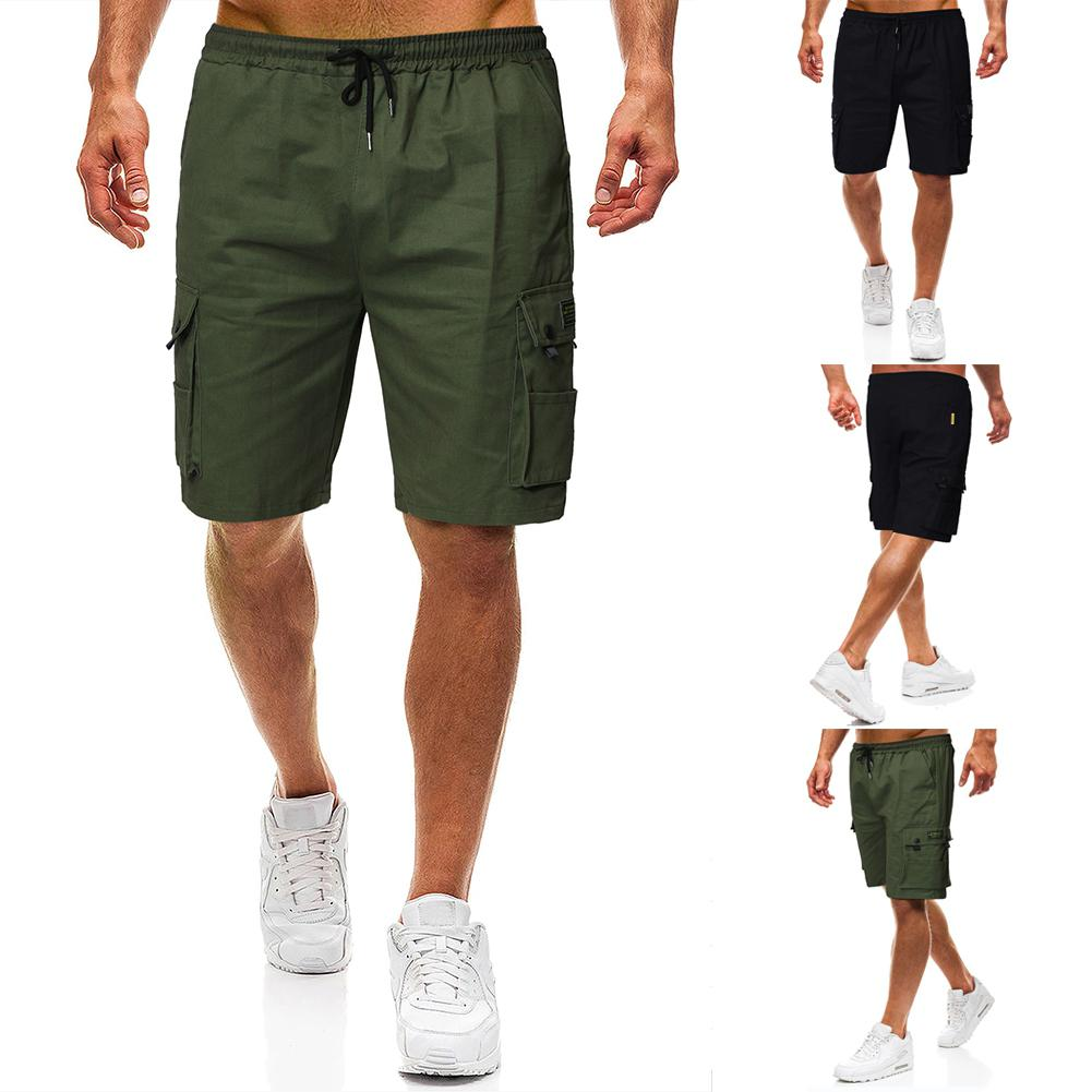 Cotton Men   Shorts   Fashion Beach Pants Man 2019 Summer Solid Casual   Shorts   Middle waist Jogging   Shorts   Straight type