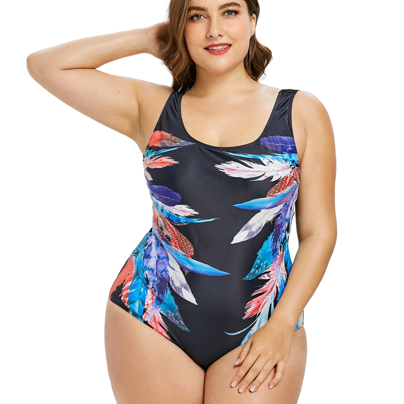 Sexy Plus Size Swimwear Women One Piece Swimsuit May Female Beach Bather 2018 Push Up Monokini Indoor Swimming Bathing Suit 4XL plus size swimwear women indoor swimsuit 2018 may beach sexy tankini dress bathing suit push up swimming suits bikini new bather