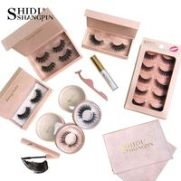 SHIDISHANGPING 3d mink lashes kit handmade mink eyelashes eyelash glue mascara tweezers makeup Eyelash Extension tools set