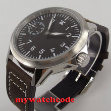 bf04ce45dc5 45mm corgeut black dial luminous marcas vidro de safira 6497 mão mens  sinuosas assista C90