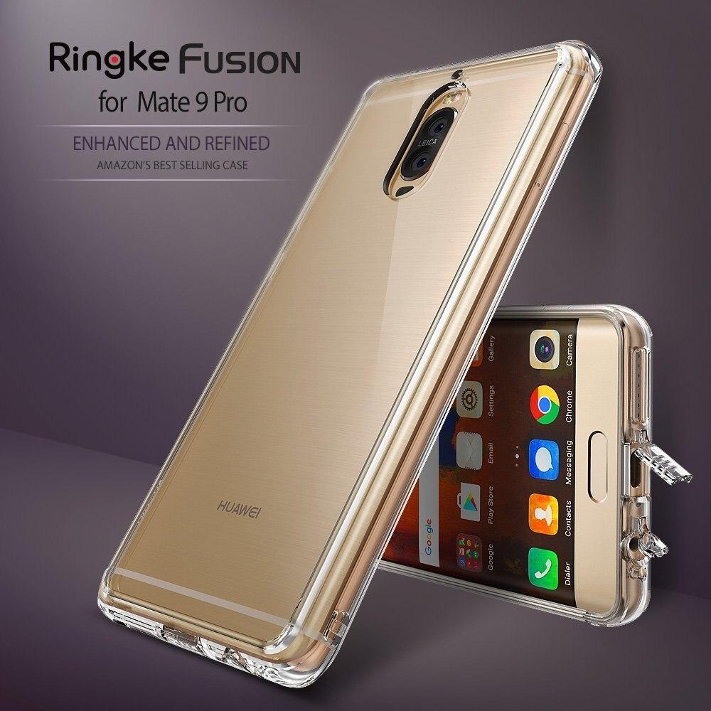 imágenes para Original Ringke Fusión Panel Duro PC de Nuevo + TPU Caso Claro para Huawei Cubierta de Protección Trasera Dura Mate 9 Pro Gota para mate 9 pro