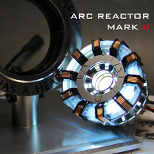 Avengers 1:1 Iron Man Arc Reactor Action Figure Toy Light MK2 DIY Parts Model Assembled Toys Chest Lamp