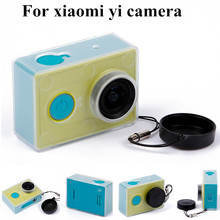 Crazy Sale Protective Case Skin For Xiaomi YI Action Camera Accesorios Transparent Protective Cover With Lens Cap For Xiao Yi