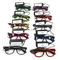 Noel dekorasyon için EL Tel Gözlük 10 Renkler Mevcut Kızdırma Parti Dekorasyon Toptan Parlayan Gözlük 10 adet