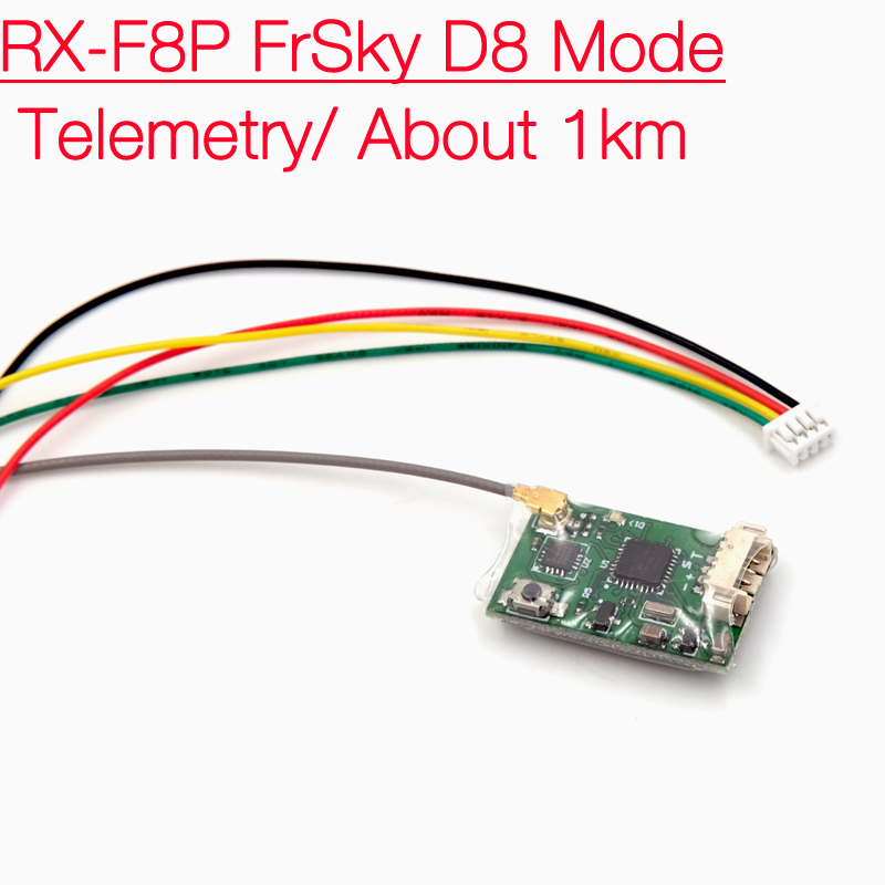 RX-F8P 8CH Telemetry 1km Receiver Compatible With Frsky X9D X12S X7 DJT at D8 Mode корабельный движитель 9 7 8 x 13 f yamaha 20hp 25hp 30hp 9 7 8 x 13 f